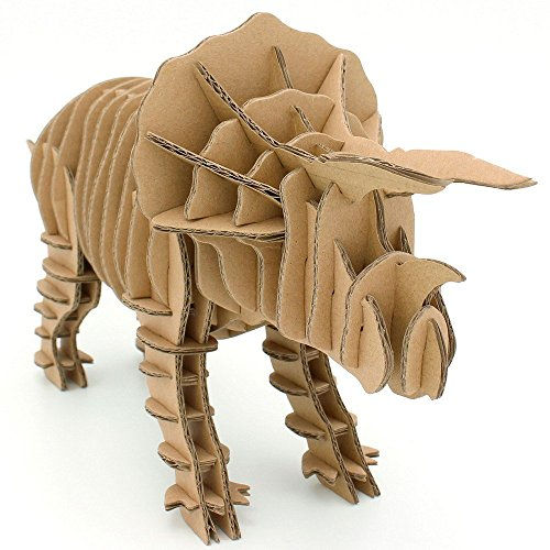I'm Charmer Fabulous Triceratops 3D Puzzle Model DIY Cardboard Recycled Craft Recycled Cardboard Pencil