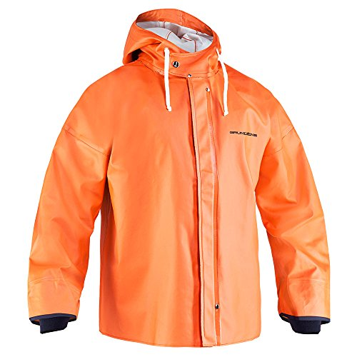 Twill Jacket Coated - Grundens Brigg 44 Parka - Orange - Large