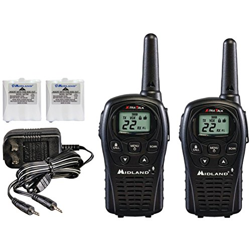 Midland GX22VP 32-Mile GMRS Radio Pair Pack with Charger and Rechargeable Batteries by Midland
