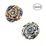 WenJie [2 Pack] Beyblade Burst - Personally Assemble to Improve Your Child's Manual Ability - Stamina Type - 2 X Combat Combination ( 2 Beyblade + 2 Launcher ) - b79+b82