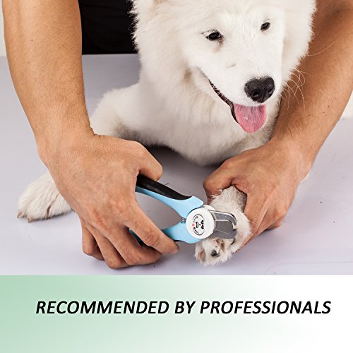 BENCMATE Dog Nail Clippers Professional Pet Nail Clippers with Safety Guard to