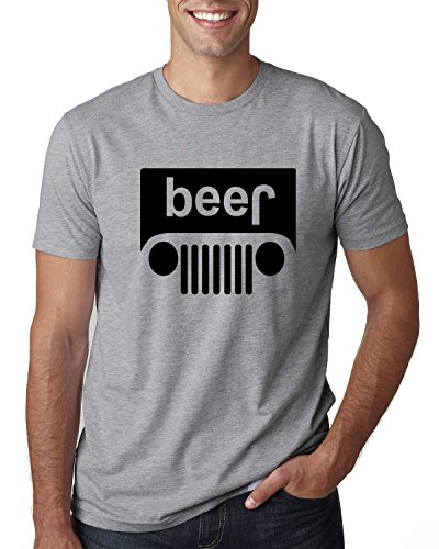 Wild Bobby Beer Logo   Cars and Trucks Parody Humor Alcohol   Mens Drinking Tee Graphic T-Shirt, Heather Grey Black, ()