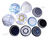 LOT 10 knitted Stain Classic star Yarmulke Jewish Synagogue holy Israel Kippah