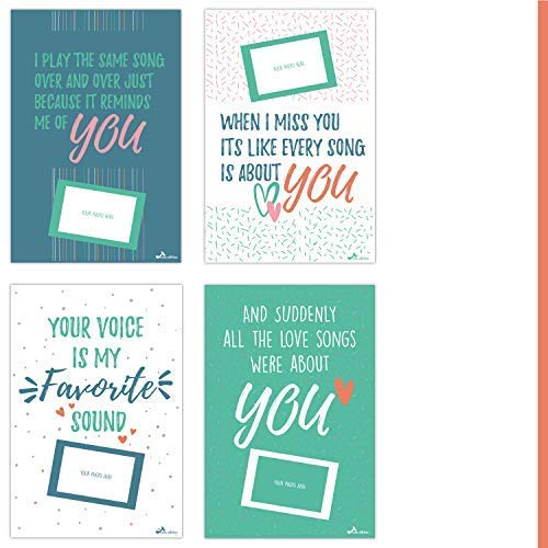 Chloe's Choice Giant Letter of Anniversary Love for Men and Women | Unique Couples Gifts | Personalized Card Posters for Him and Her | Gift for Your Husband, Wife, Boyfriend, and Girlfriend