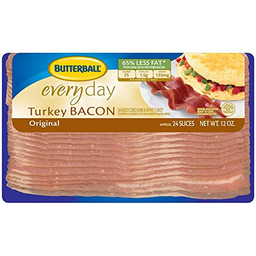 Butterball Original Everyday Turkey Bacon, 12 Ounce -- 24 per case. by Butterball