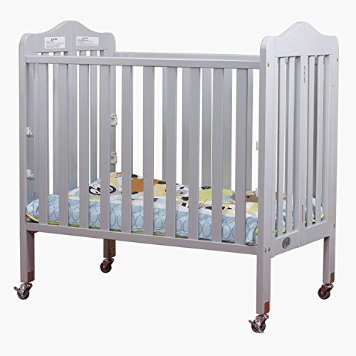 Orbelle Noa Three Level Portable Crib Gray