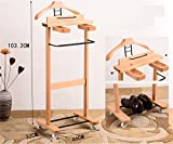 LQQGXLModern minimalist coat rack, Solid wood clothing hotel hanger bedroom clothing store drying rack beech coat with casters