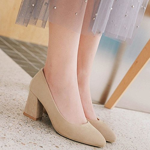 High Mujer Heels beige Work Zanpa 1 Formal Pumps I8nHq