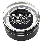 Maybelline New York Eyestudio ColorTattoo Metal 24HR Cream Gel Eyeshadow, Dramatic Black, 0.14 oz.