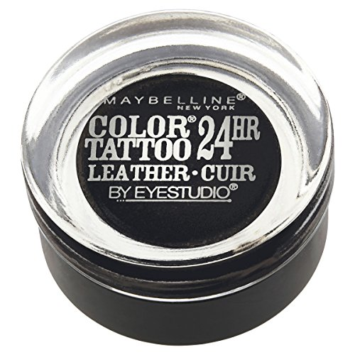 Maybelline New York Eyestudio ColorTattoo Metal 24HR Cream Gel Eyeshadow, Dramatic Black, 0.14 oz.