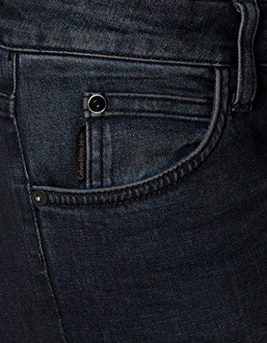 Calvin Klein Jeans Damen Jeans Baumwolle Denim-Hose Unifarben, Größe: 28/32, Farbe: Blau