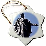 3dRose Danita Delimont - Statues - Statue of Catherine the Great, Odessa, Ukraine-AS43 DBR0091 - Dave Bartruff - 3 inch Snowflake Porcelain Ornament (orn_75245_1)