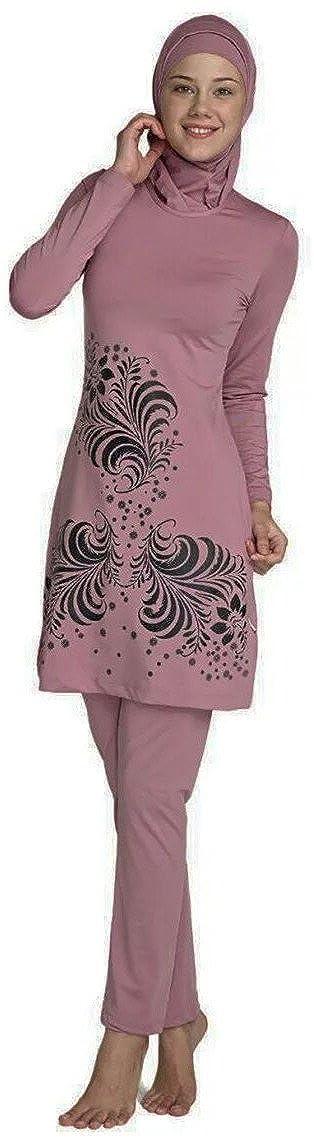 YEESAM Muslimische Badeanzug Bademode Damen - Muslim Islamischen Hijab Bescheidene Badebekleidung Modest Beachwear Burkini für frauen Muslimische Bademode
