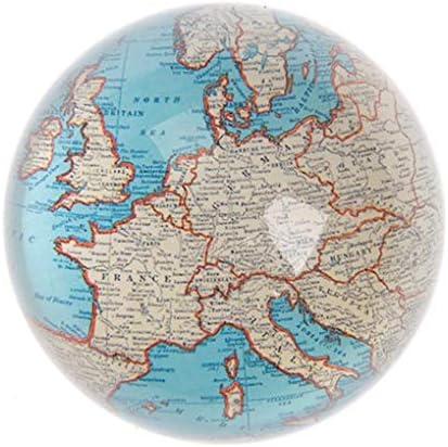 Sass /& Belle Fermacarte in vetro motivo: cartina geografica stile vintage