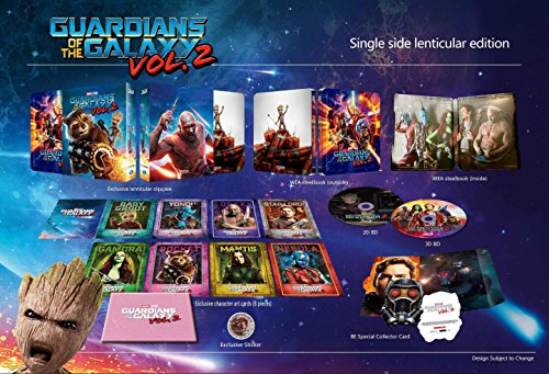Guardians Of The Galaxy Vol 2  3D Blu Ray 2D Blu Ray Blufans Steelbook Single Lenticular Edition  Region Free  Sold Out