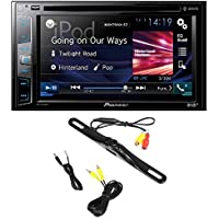 pkg Pioneer AVH-X390BS In-Dash 2-DIN 6.2-Inch Touchscreen Multimedia DVD Receiver, Built-in Bluetooth, Sirius XM Ready + Cache Backup Camera with Nightvision