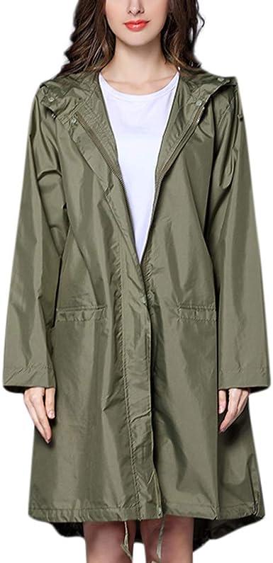 Hommes Femmes Unisexe Imperméable Coupe-Vent à Capuche Manteau Imperméable