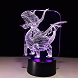 3D Night Light, 3D visualization Illusion LED Table Light with Touch Button, 7 Colors Change Touch Desk Lamp for Bedroom Children Room Decorative or Gifts for Birthday/Christmas