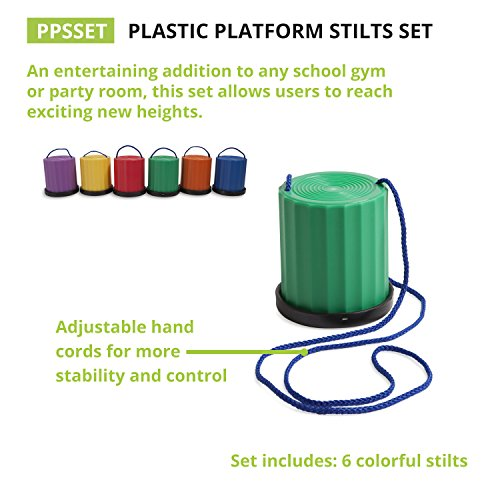 Champion Sports Platform Kid Stilts: Classic Kids Party, Birthday, and Picnic Game Set by Champion Sports (Image #5)