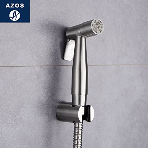 Azos Bidet Faucet Pressurized Sprinkler Head Stainless Steel Stainless Steel Cold Water Single Function Toilet Pet Bath Washing Machine Round PJPQB005 by AZOS