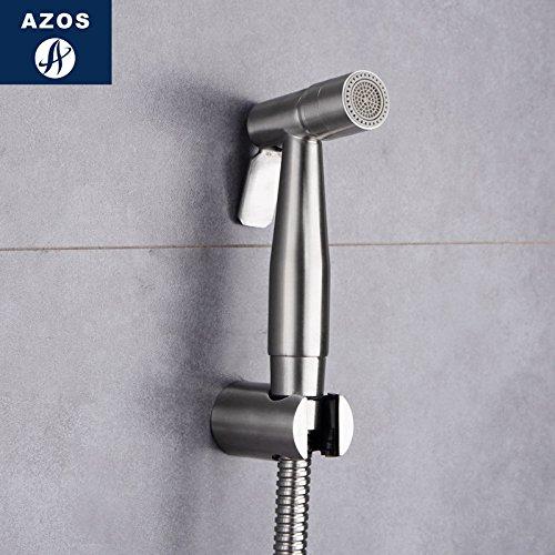 Azos Bidet Faucet Pressurized Sprinkler Head Stainless Steel Stainless Steel Cold Water Single Function Toilet Pet Bath Washing Machine Round PJPQB005