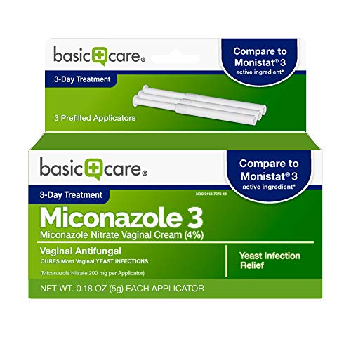 - Basic Care Miconazole 3, Miconazole Nitrate Vaginal Cream