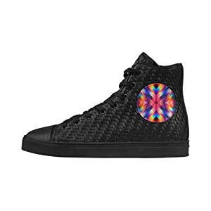 Shoes No.1 Sneakers Fitness Woven Women's Shoes PU Leather Psycho Geometry For Outdoor