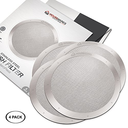 4-Pack Reusable Stainless Steel Filters for AeroPress Coffee Makers by Housewares Solutions (4) by Housewares Solutions (Image #6)