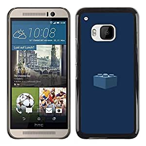 Be Good Phone Accessory // Dura Cáscara cubierta Protectora Caso Carcasa Funda de Protección para HTC One M9 // Piece Kids Navy Blue