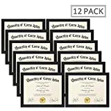 Icona Bay 8.5x11 Diploma Frame (12 Pack, Black), Black Sturdy Wood Composite Certificate Frame, Document Frame Bulk, Wall or Table Mount, Set of 12 Exclusives Collection