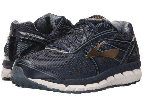 Brooks(ブルックス) メンズ 男性用 シューズ 靴 スニーカー 運動靴 Beast '16 - Peacoat Navy/China Blue/Gold [並行輸入品] B07BMK2ZYX