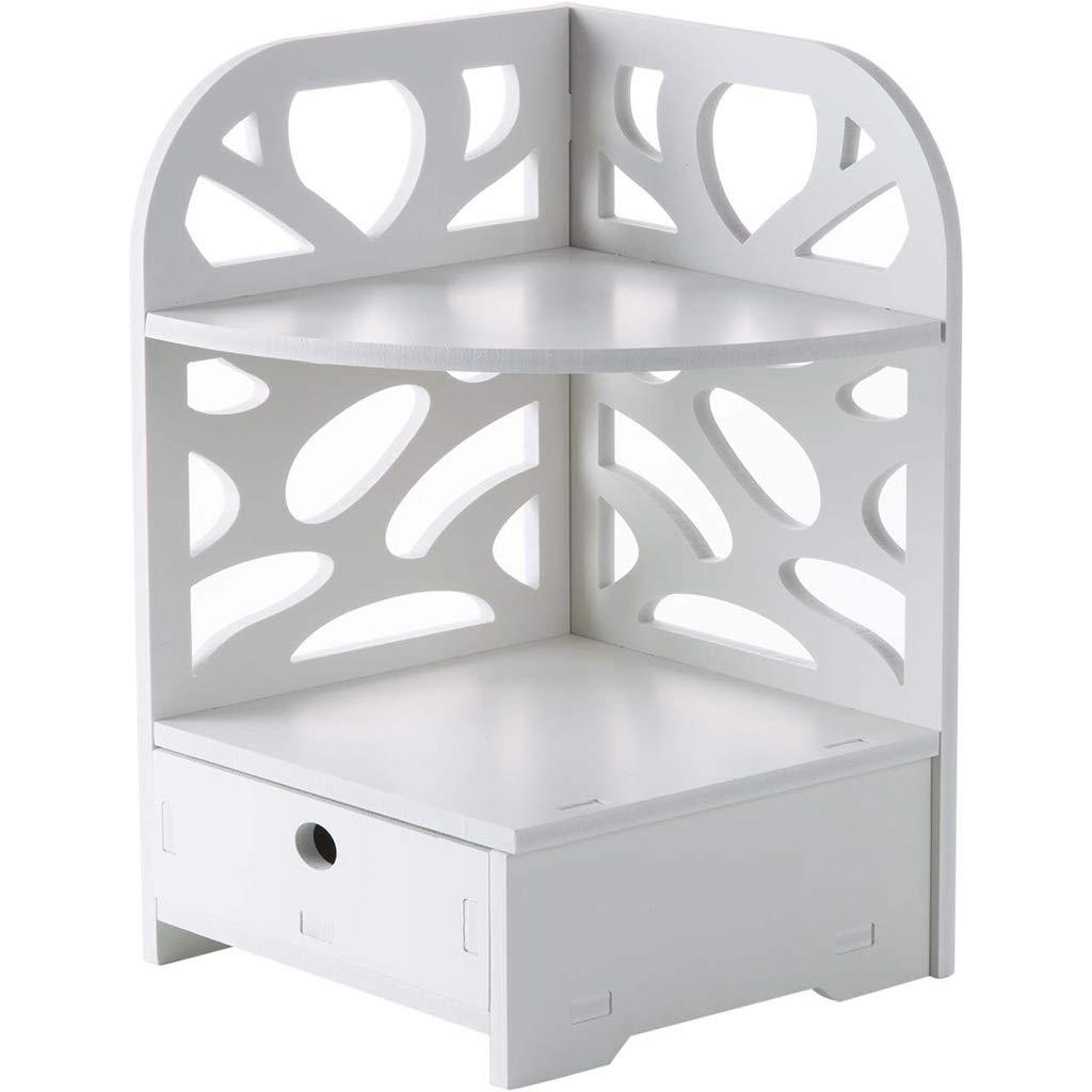 Handtuchhalter LAOSUNJIA Holz Kunststoff Panel Rack Bad Lagerung Lagerregal (Farbe : Weiß, größe : 35 * 22.3cm)
