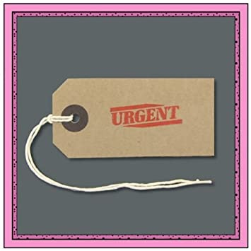10 URGENT Buff Luggage Parcel Gift Tags 82mm X 41mm Birthday Xmas Business Small Amazoncouk Office Products