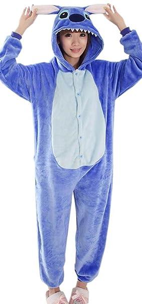 EOZY Pijamas/Disfraz De Animales Para Mujer Hombre Adulto Animales Azul Tamaño M
