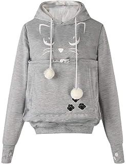 BESBOMIG Unisexo Sudadera con Capucha con Orejas - Sweatshirt Camisa de Entrenamiento Bolso para Mascota Transportar