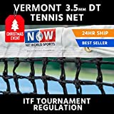 Vermont 3.5mm Double Top Tennis Net (22lbs) - Championship Tennis Net - Ultimate 5 Year Warranty - The Very Best Tennis Net Available