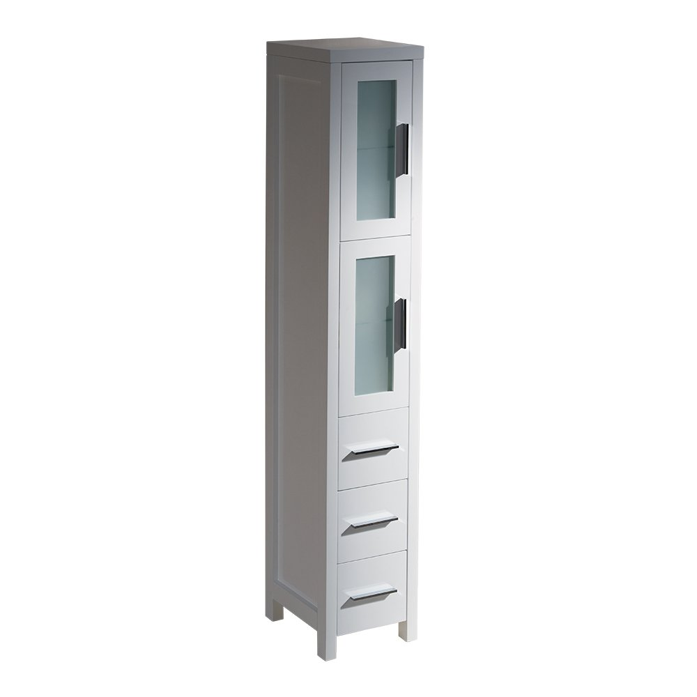 Amazon.com: Fresca Bath FST6260WH Torino Bathroom Linen Side Cabinet, Tall,  White: Kitchen U0026 Dining