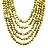Pearl Strand Necklace 100 Inches 7-9mm Golden Freshwater Pearl Necklace