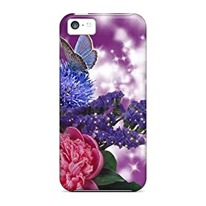 New Shockproof Protection Case Cover For Iphone 5c/ Flowers Of Summer Case Cover