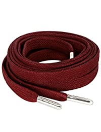 MiracleCat Flat Wax Cotton Shoelaces for Sneakers Shoes and Boots