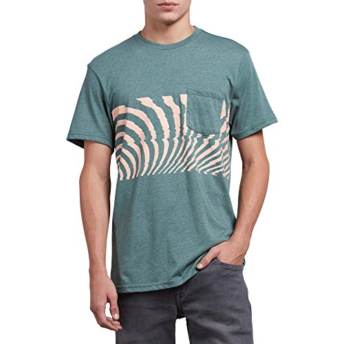 Volcom Men's Macaw Modern Fit Short Sleeve Pocket Tee, Pine, Small by Volcom (Image #1)