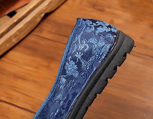 hombre Satén Lazutom Azul Mocasines para de x7q7waBp86