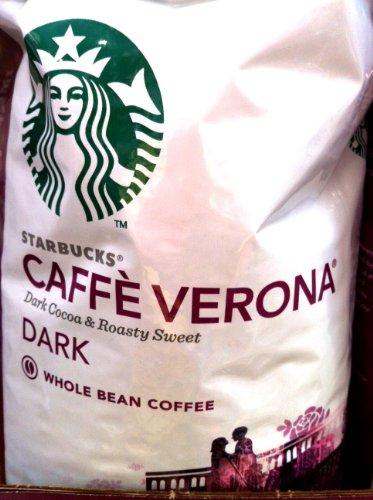 Starbucks Caffe Verona Coffee, Dark, Whole Bean - 32 Ounce (2 Lbs)