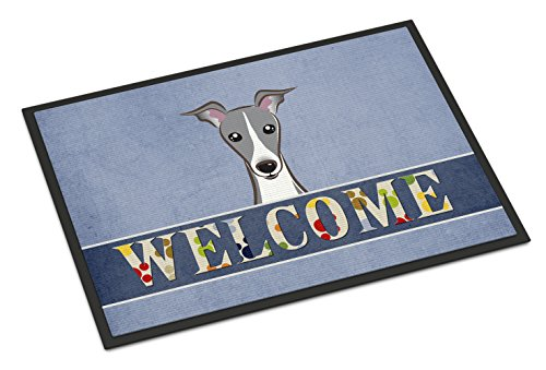 Italian Greyhound - Caroline's Treasures BB1422MAT Italian Greyhound Welcome Indoor or Outdoor Mat, 18 x 27