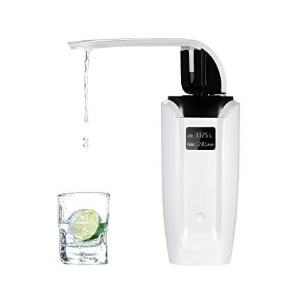 Decdeal - High-end Purificador de Agua de Carbón con Grifo, Color Blanco