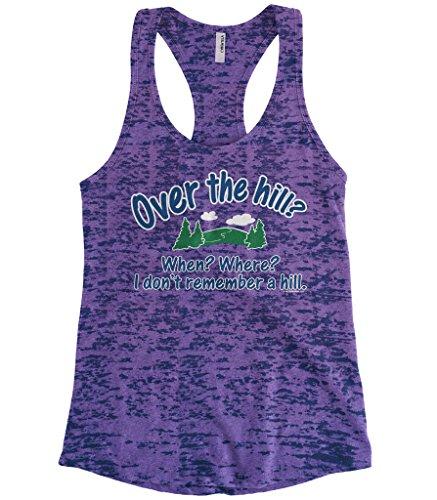 Cybertela Women's 40th Birthday Gift Over The Hill? When… Burnout Racerback Tank Top (Purple, - Stores Birkenhead