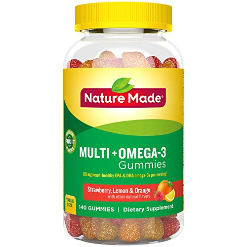 Nature Made Multi + Omega-3 Adult Gummies ( 60 mg of DHA & EPA per serving) ,140 Count