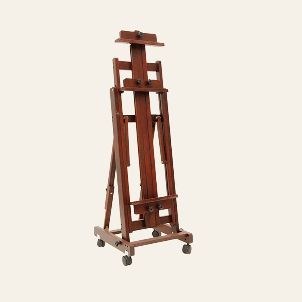 caballete pintura Caballete grande de madera maciza de madera horizontal y vertical de cuatro ruedas de madera de cuatro ruedas caballete caballetes ( Color : 4250130-200cm )