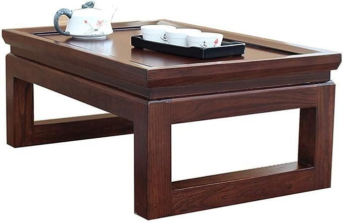 XZGang Muebles Retro, una Sola Capa de Estilo japonés de Madera sólida Cafetera Tabla Reunión Apartamento pequeño Restaurante Mesa de Comedor fácil de Limpiar Vida Sencilla (Size : 60 * 40 * 25cm): Amazon.es: Hogar