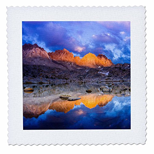 Comforter Palisades Set (3dRose Danita Delimont - Mountain - Sunset over the Palisades in Dusy Basin, Kings Canyon National Park - 18x18 inch quilt square (qs_258998_7))